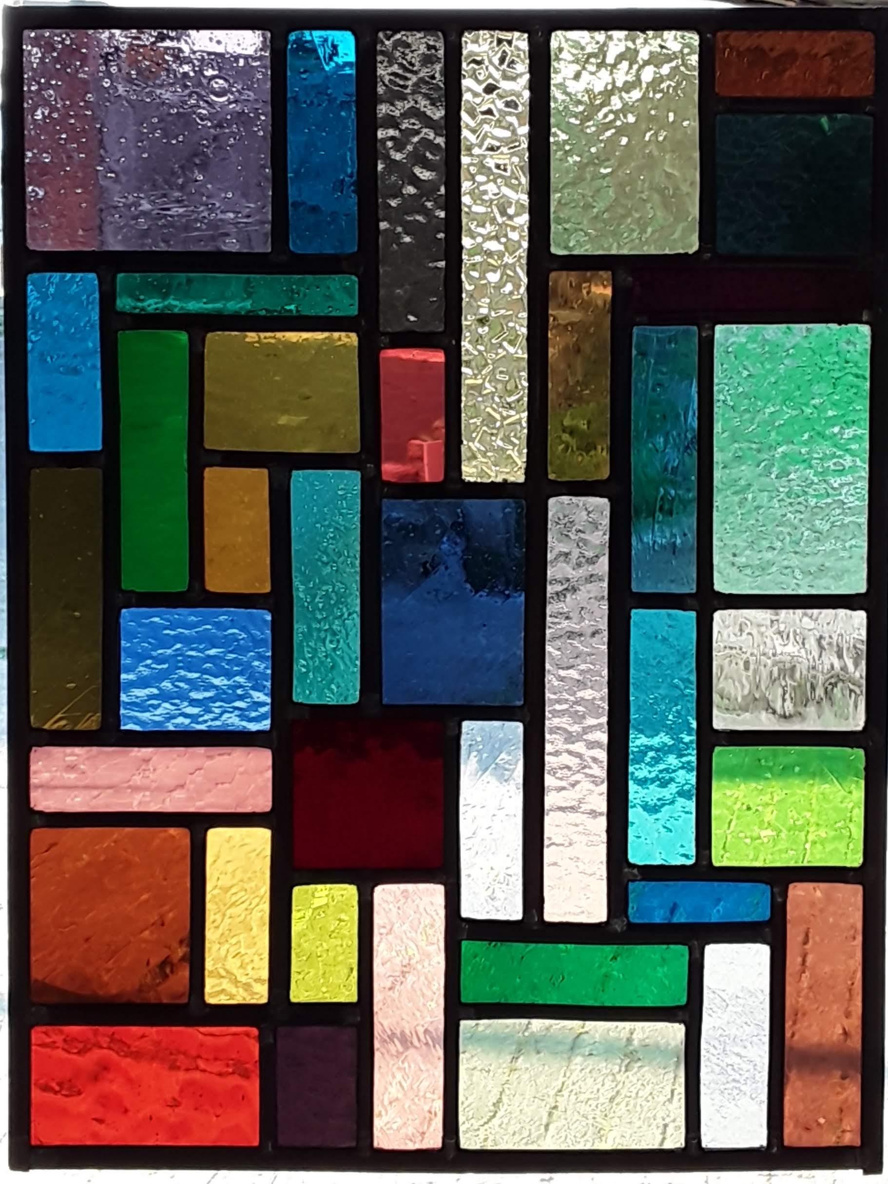 glasraam glas-in-lood kleurrijk glas