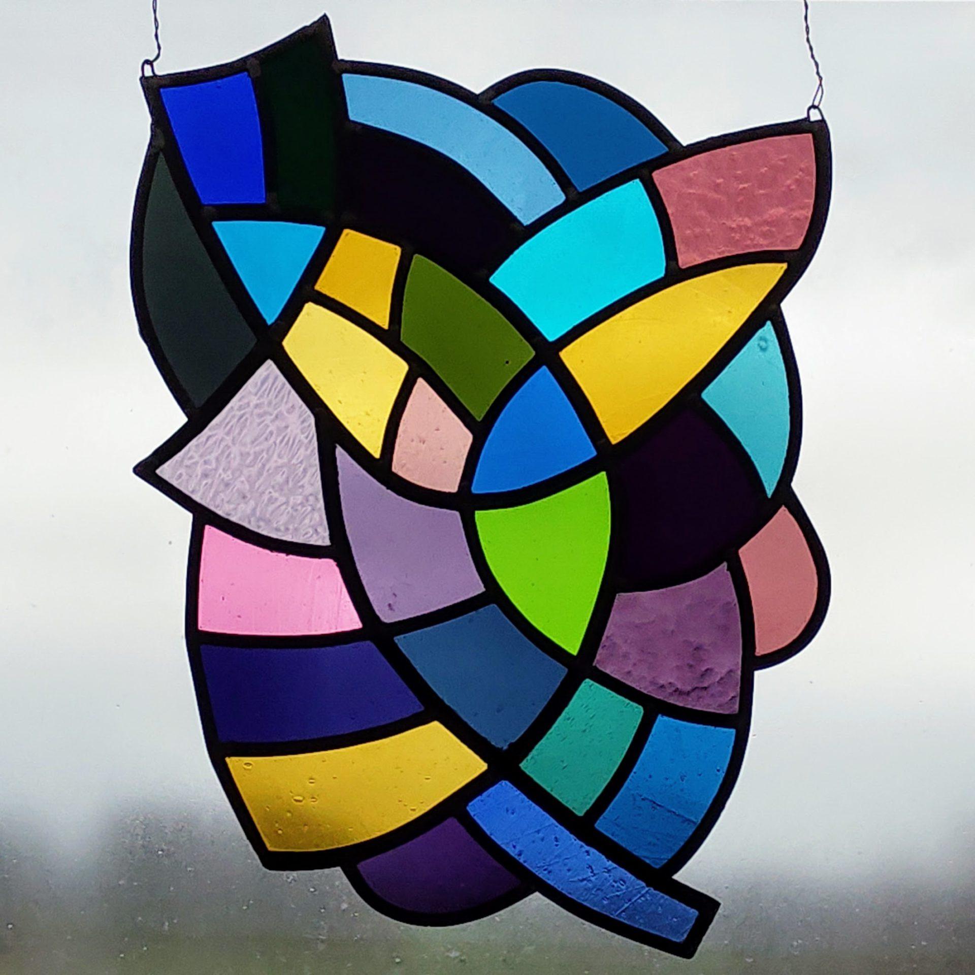 glasraam raamdecoratie vitrail stained glass decoration