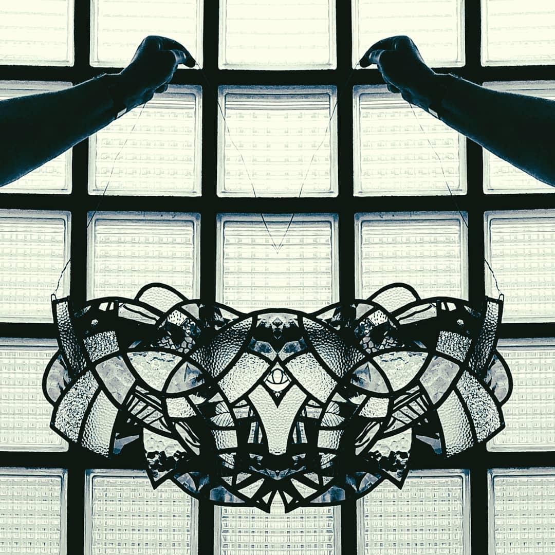 Glasraamkunst glas-in-lood Isabelle Decallonne