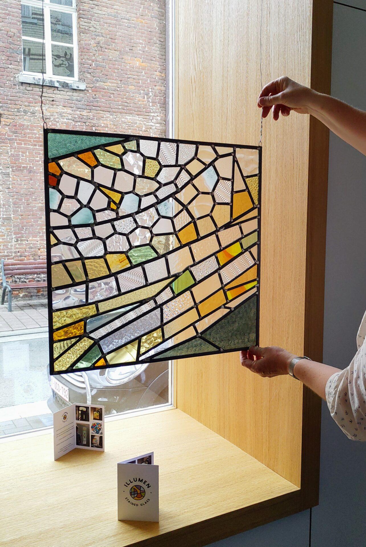 Glasraam glas-in-lood Isabelle Decallonne