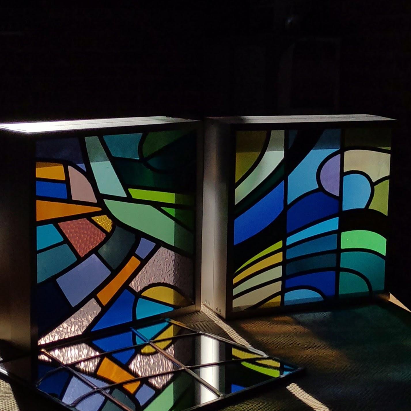 lightbox stained glass glasraam vitrail