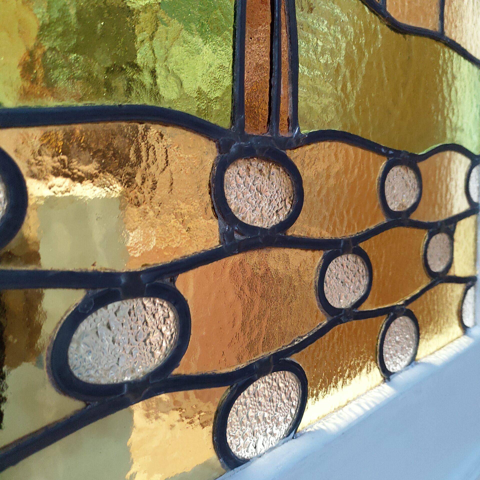 Herstelling glas-in-lood raam Gent