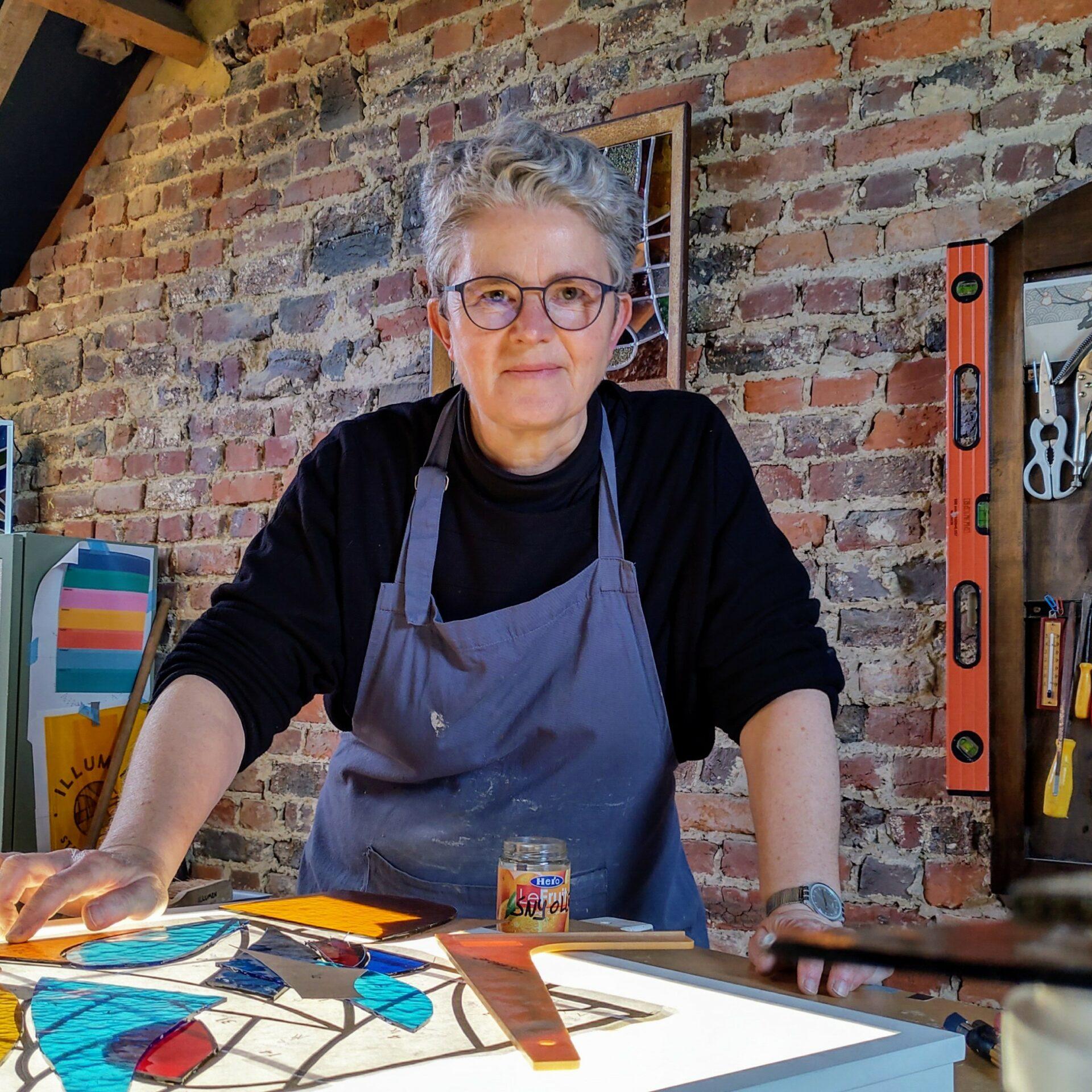 Isabelle Decallonne Atelier Illumen glasramen vitraux stained glass glafsraamdesigner