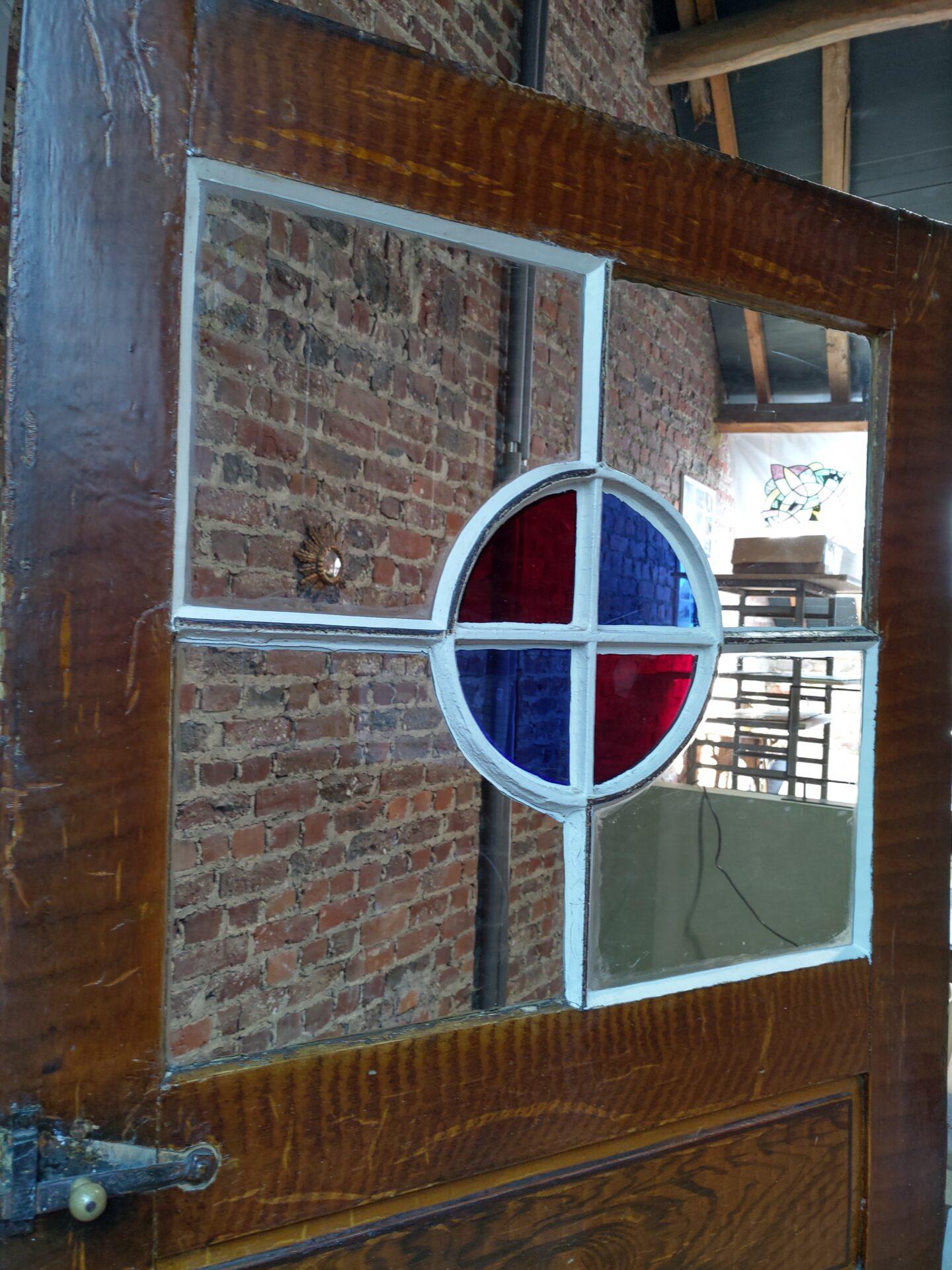 Hersteld glas in deur Vollezele
