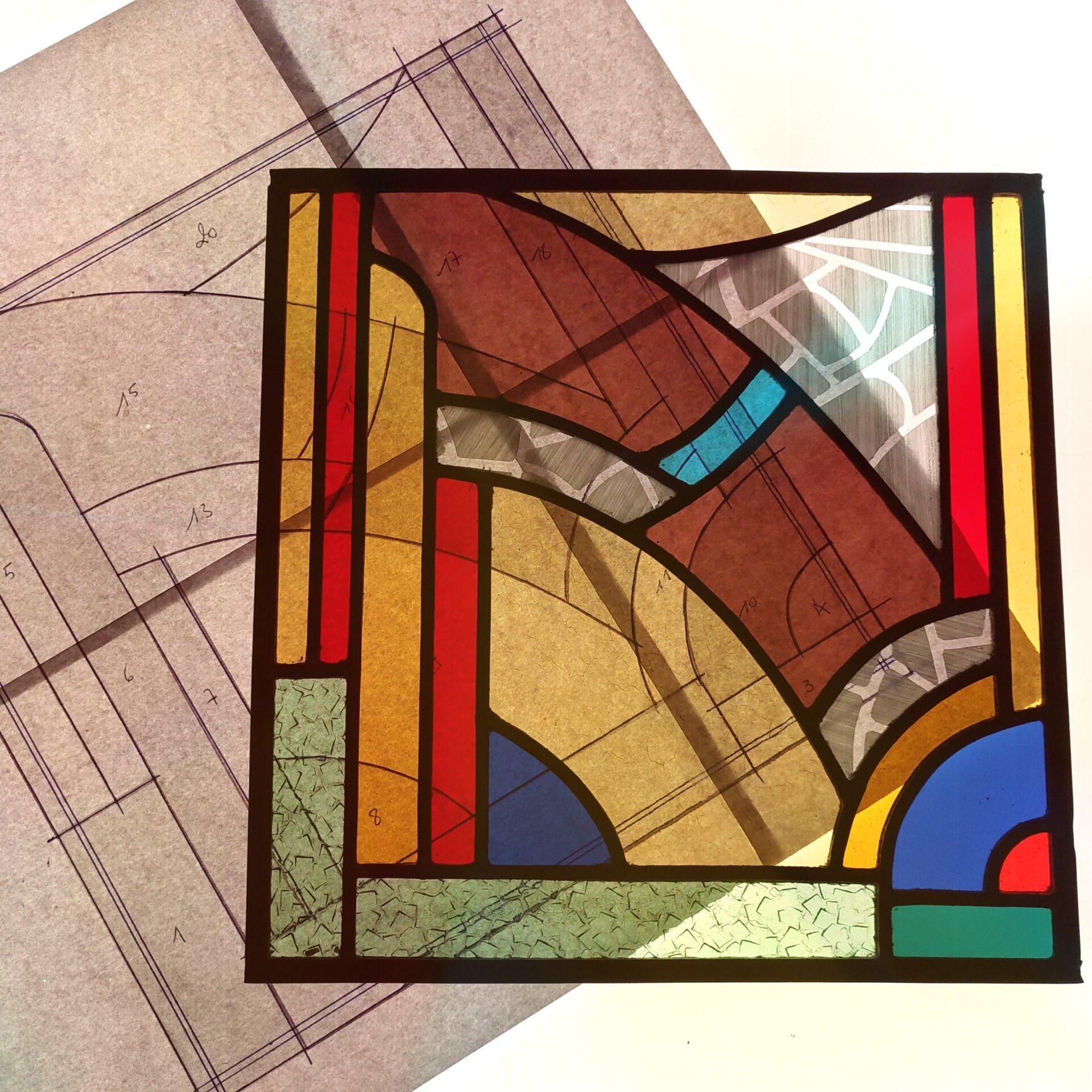 Illumen realisatie van Glas-in-lood Isabelle Decallonne